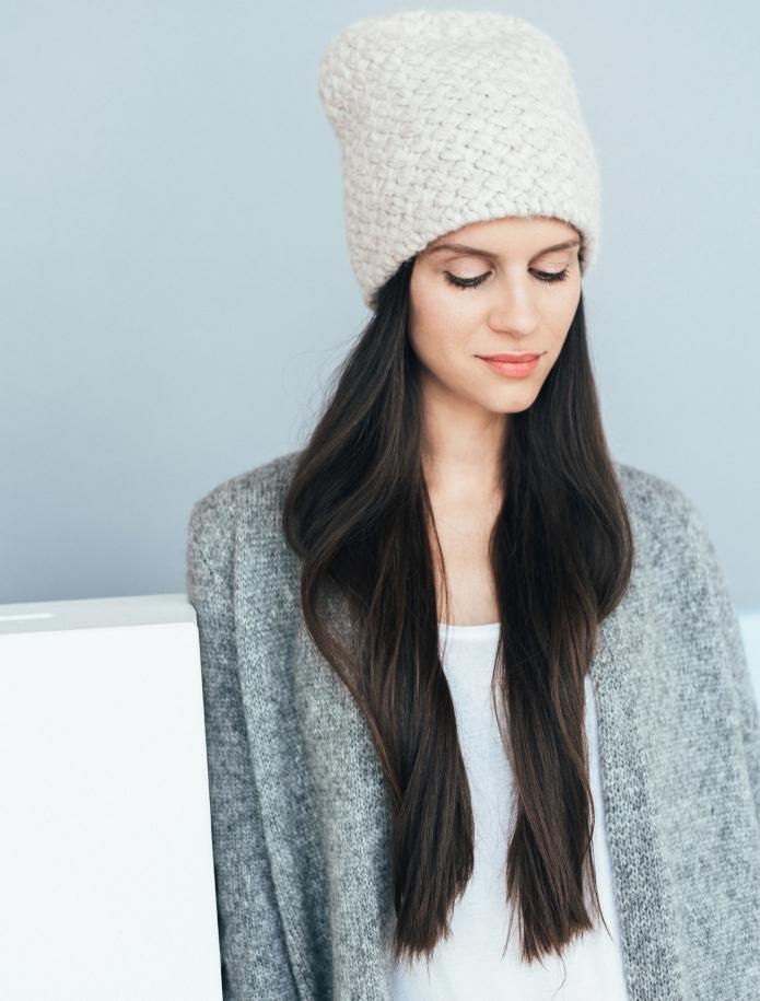 Alpaca wool basket hat. Photo Nr. 2