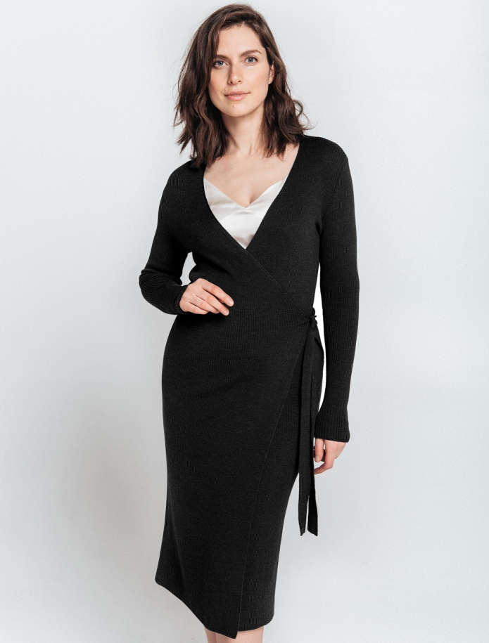 Merino wool Wrap dress. Photo Nr. 3