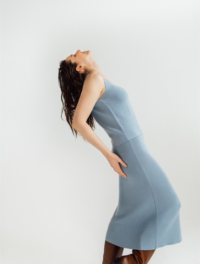Midi length merino / cashmere / silk skirt. Photo Nr. 4