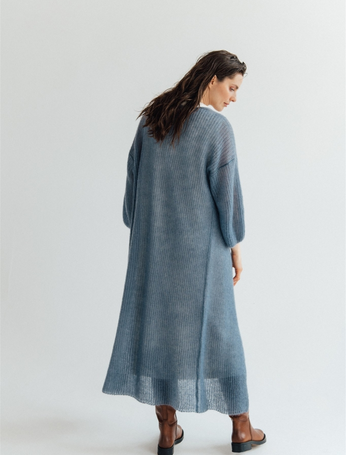 Long mohair / silk cardigan. Photo Nr. 3