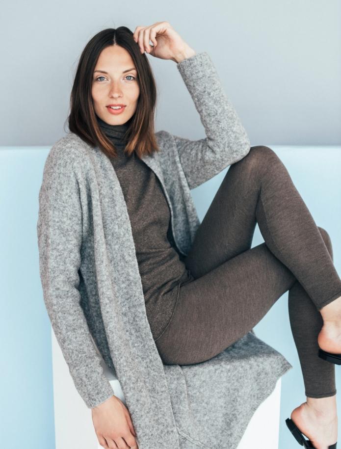 Long merino blend coat. Photo Nr. 5