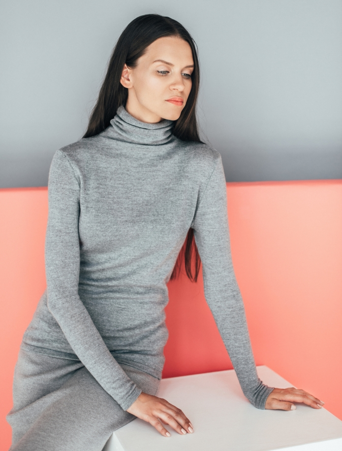 Merino turtle neck sweater. Photo Nr. 1