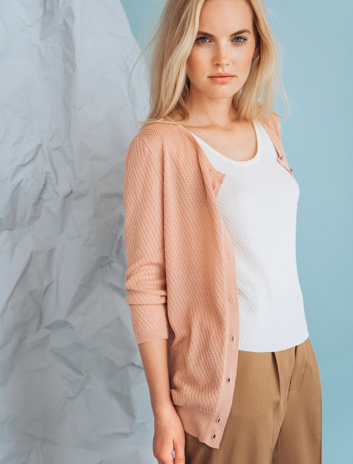 Silk and cotton rice pattern sleveeless top. Photo Nr. 4