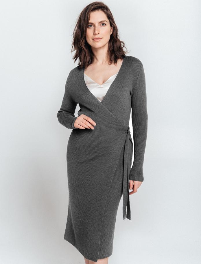 Merino wool Wrap dress. Photo Nr. 1