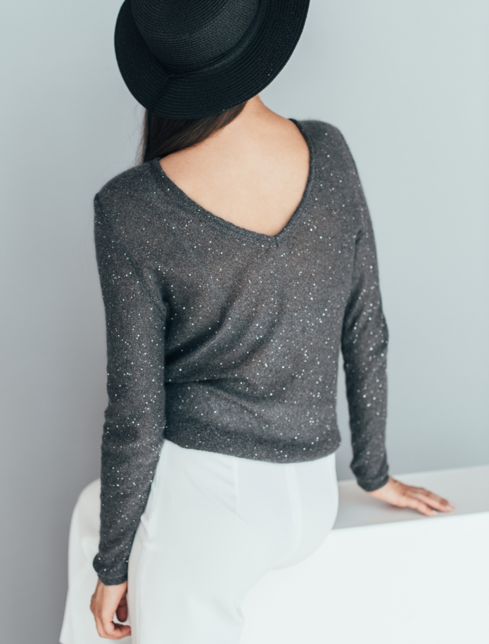 Elegant mohair festive sweater. Photo Nr. 3