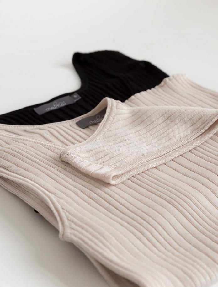 Sleeveless silk and cotton top. Photo Nr. 5