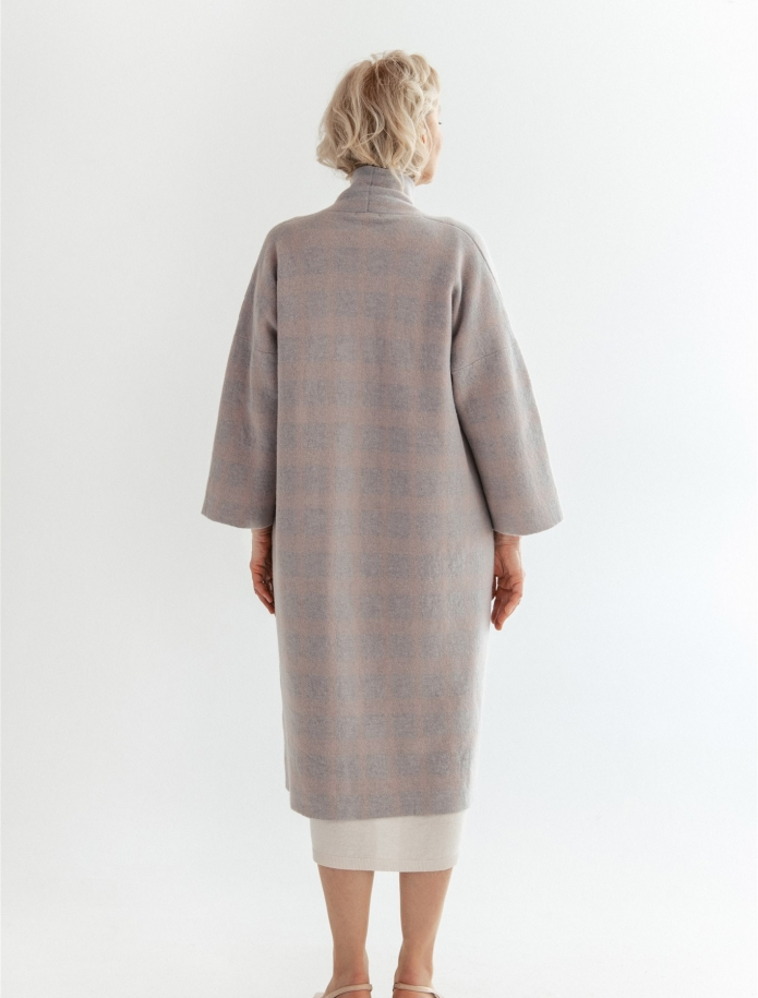 Cashmere / wool coat with pockets. Photo Nr. 4