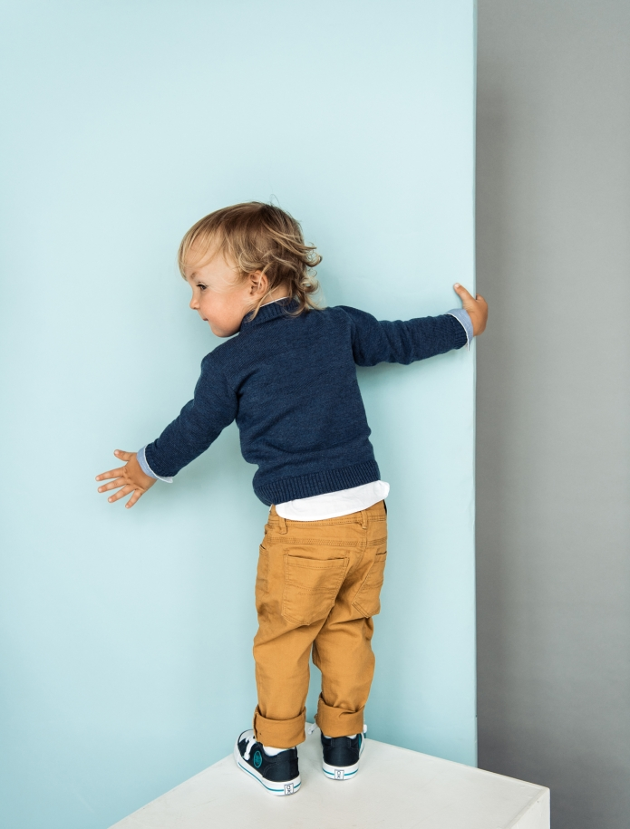 Kids merino wool cardigan with pockets. Photo Nr. 2
