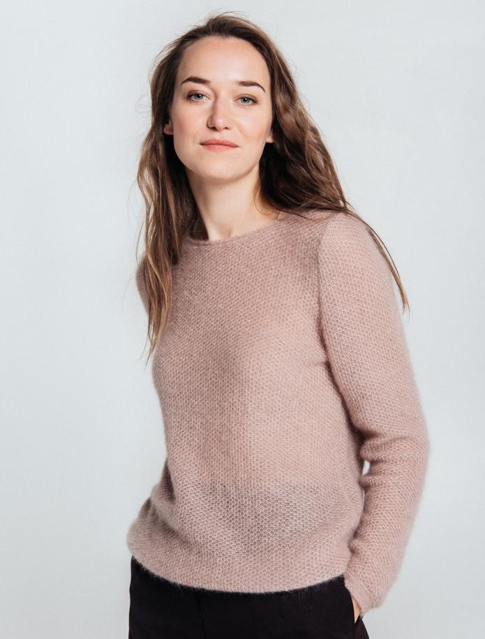 Klasisks moheras un zīda apvienojuma džemperis. Attēls Nr. 4