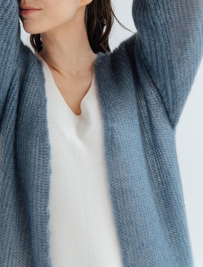 Long mohair / silk cardigan. Photo Nr. 5