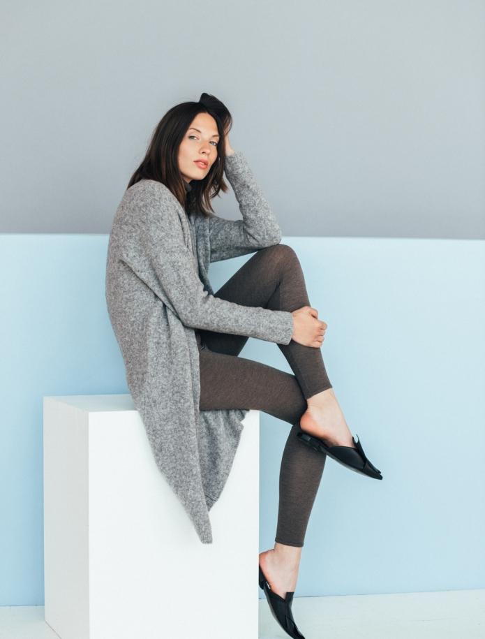 Long merino blend coat. Photo Nr. 6