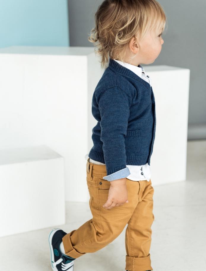 Merino vilnas bērnu jaciņa ar kabatām. Attēls Nr. 3