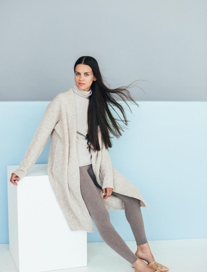 Long merino blend coat. Photo Nr. 2