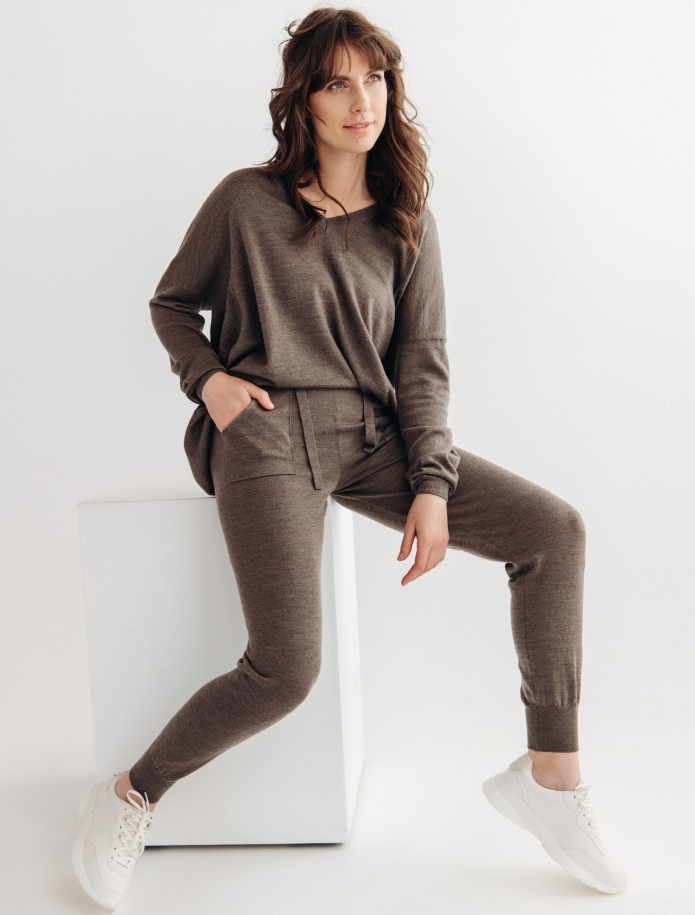 Merino trousers with pockets. Photo Nr. 1