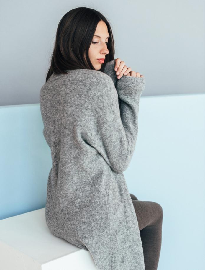 Long merino blend coat. Photo Nr. 3