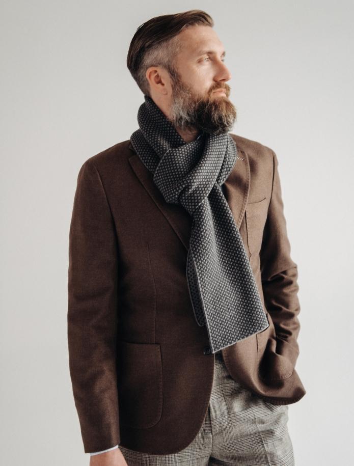 Pure merino plain knitting shawl, Pattern 3. Photo Nr. 1
