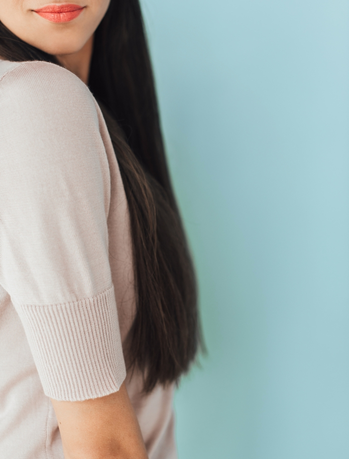 Merino knitted short sleeve sweater. Photo Nr. 10