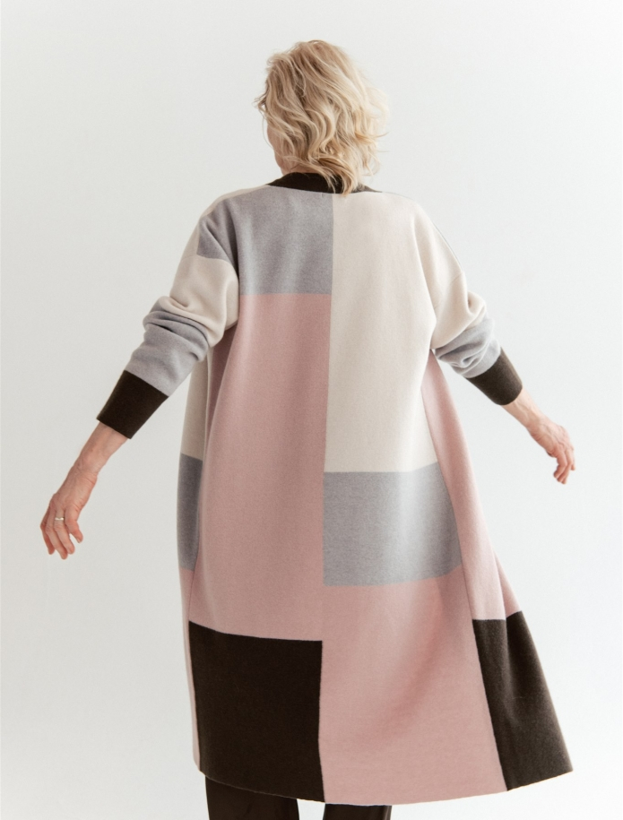 Cashmere / wool colourful cardigan. Photo Nr. 2