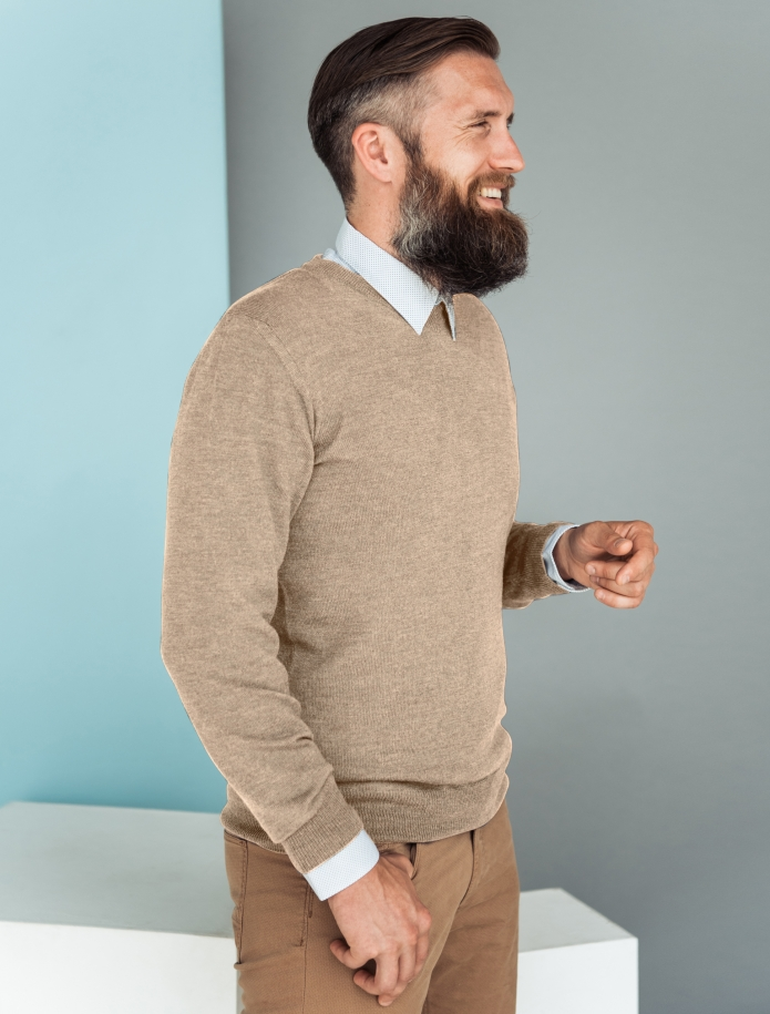 Merino vilnas vīriešu džemperis. Attēls Nr. 1