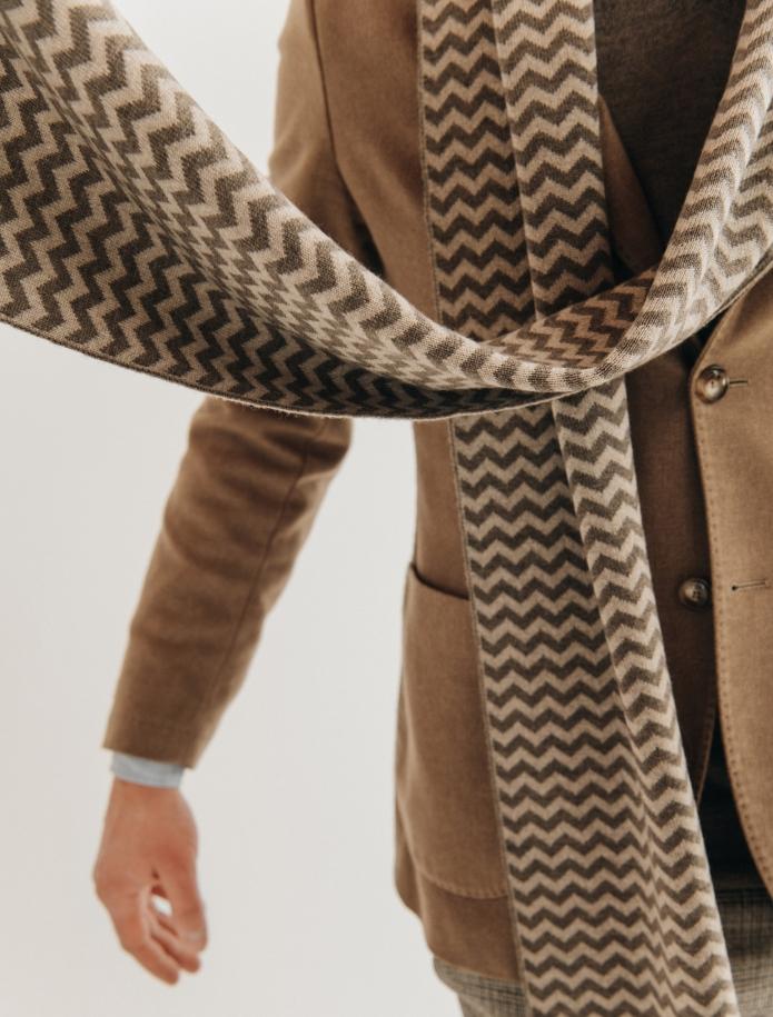 Pure merino plain knitting shawl, Pattern 2. Photo Nr. 2
