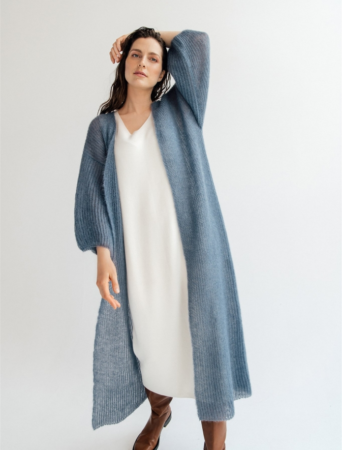 Long mohair / silk cardigan. Photo Nr. 1