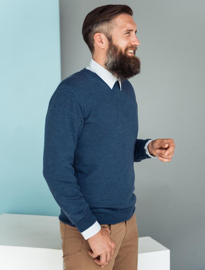 Merino vilnas vīriešu džemperis. Attēls Nr. 3