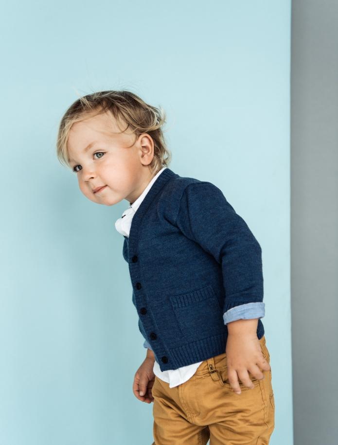 Merino vilnas bērnu jaciņa ar kabatām. Attēls Nr. 1