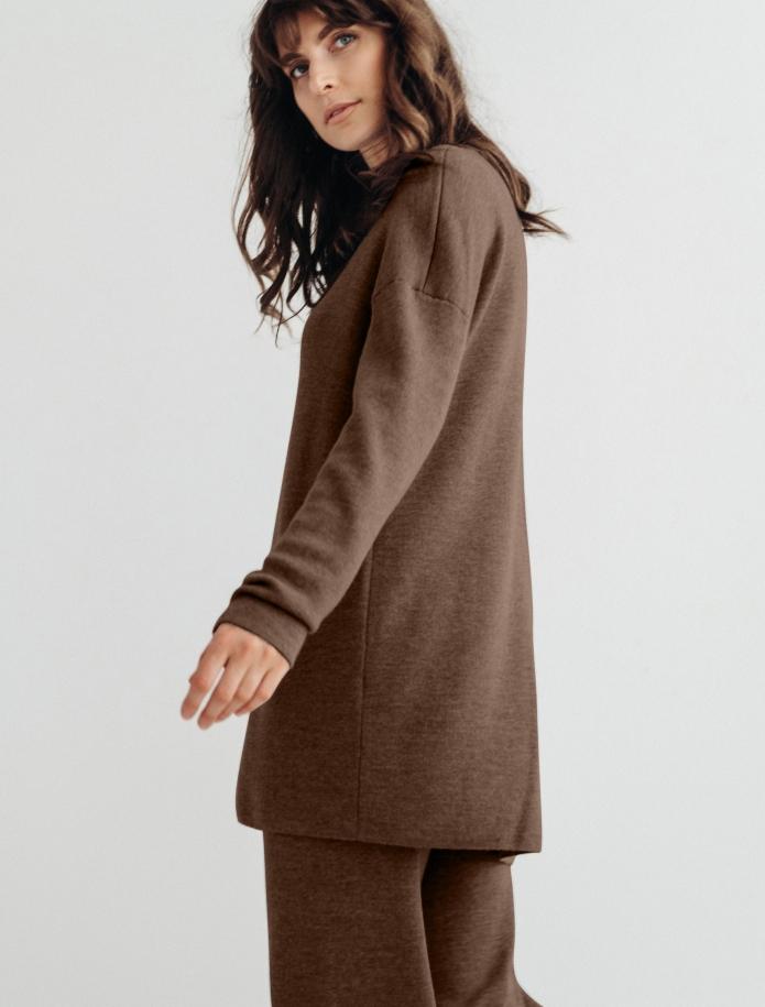 Merino wool V-neck tunica. Photo Nr. 7