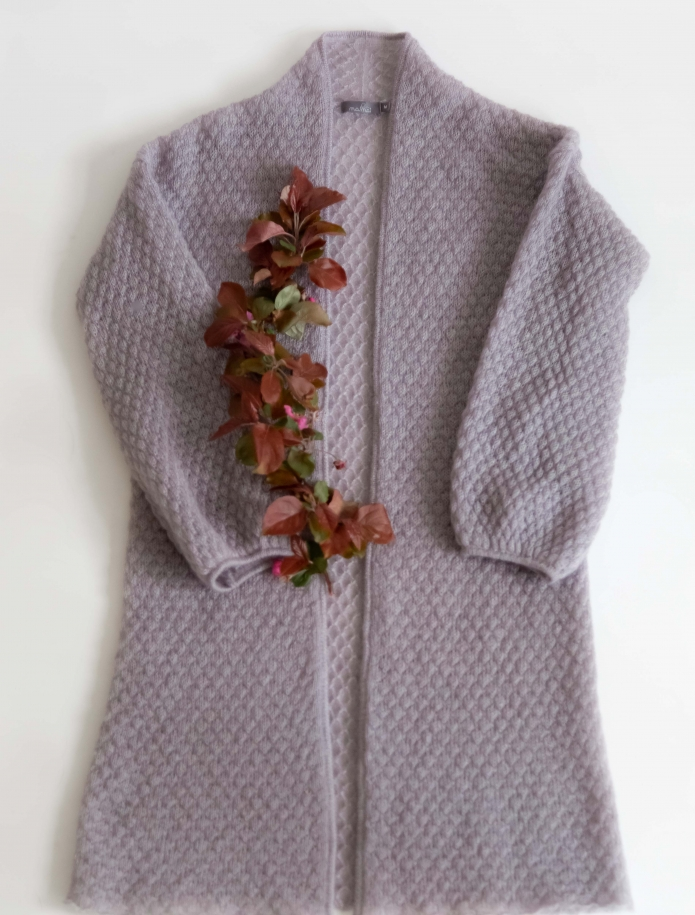 Midi mohair wide sleeve cardigan. Photo Nr. 4
