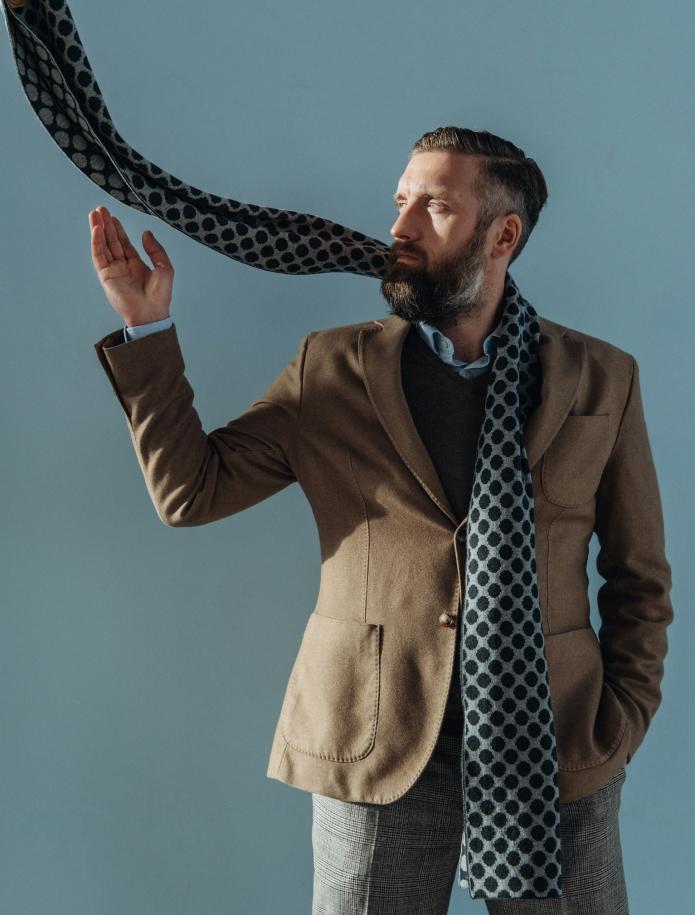 Pure merino plain knitting shawl, Pattern 1. Photo Nr. 2
