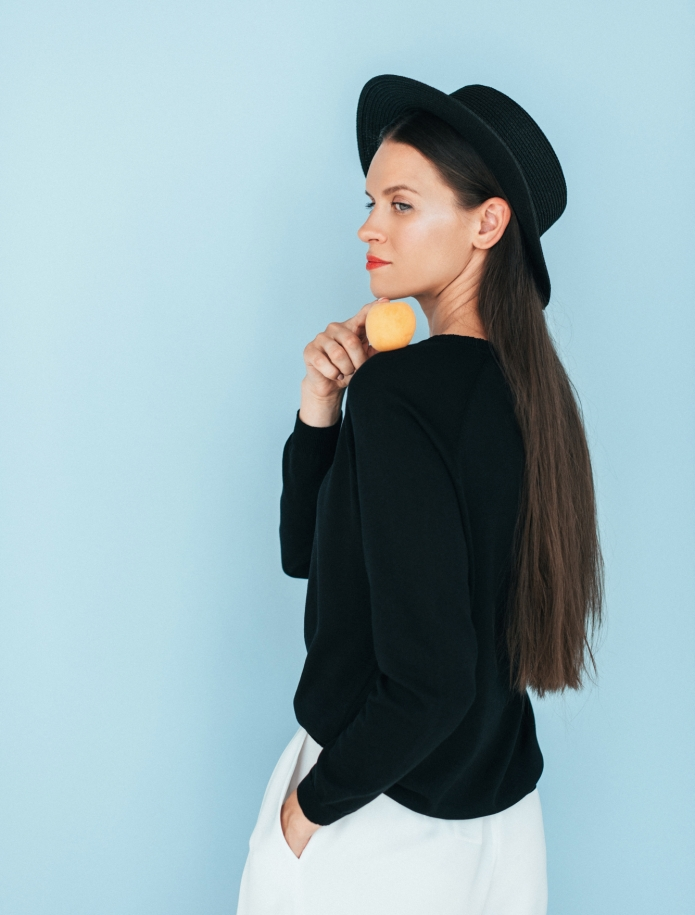 Silk and cotton long sleeve sweater. Photo Nr. 3